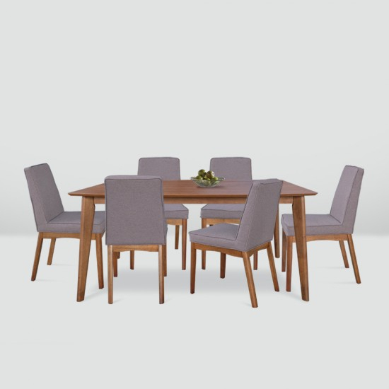 Newest Brooks Dining Tables With Regard To Brooks 1+6 Dining Set (View 11 of 20)
