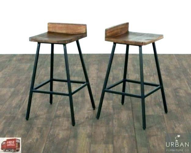 Newest Charming Iron Bar Stools Rustic Beautiful Furniture Kitchen Within Griffin Reclaimed Wood Bar Height Tables (#20 of 30)