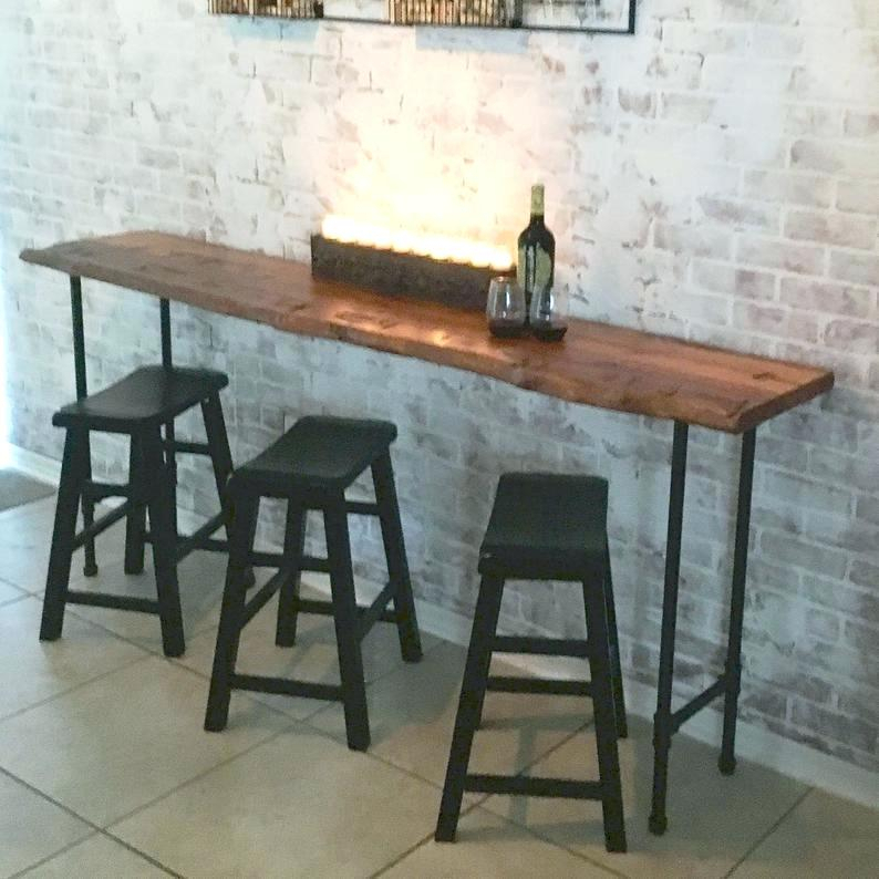 Newest Griffin Reclaimed Wood Bar Height Tables With Regard To Reclaimed Wood Bar Table – Prolike (#21 of 30)