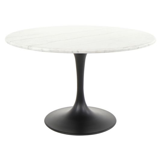 Newest Zola Marble Round Dining Table In  (#17 of 30)