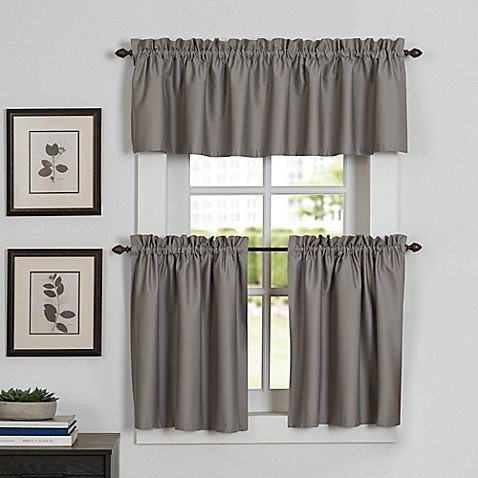 Newport Kitchen Window Curtain Tier And Valance Bed Bath With Kitchen Window Tier Sets (#41 of 50)