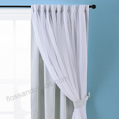 Nicetown Stylish Mix & Match Elegance White Crushed Voile X Regarding Elegant Crushed Voile Ruffle Window Curtain Pieces (View 31 of 45)