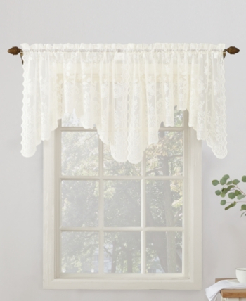 Popular Photo of Ivory Micro Striped Semi Sheer Window Curtain Pieces
