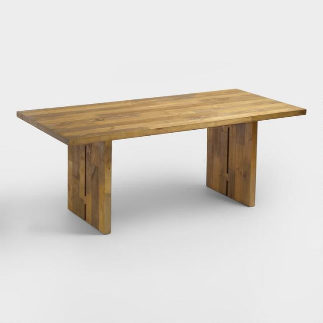Nolan Reclaimed Pine Wood Dining Table With Latest Nolan Round Pedestal Dining Tables (#12 of 30)