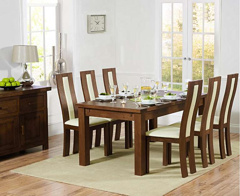 Normandy 180Cm Dark Solid Oak Extending Dining Table With Toronto Chairs Intended For Favorite Normandy Extending Dining Tables (#14 of 30)