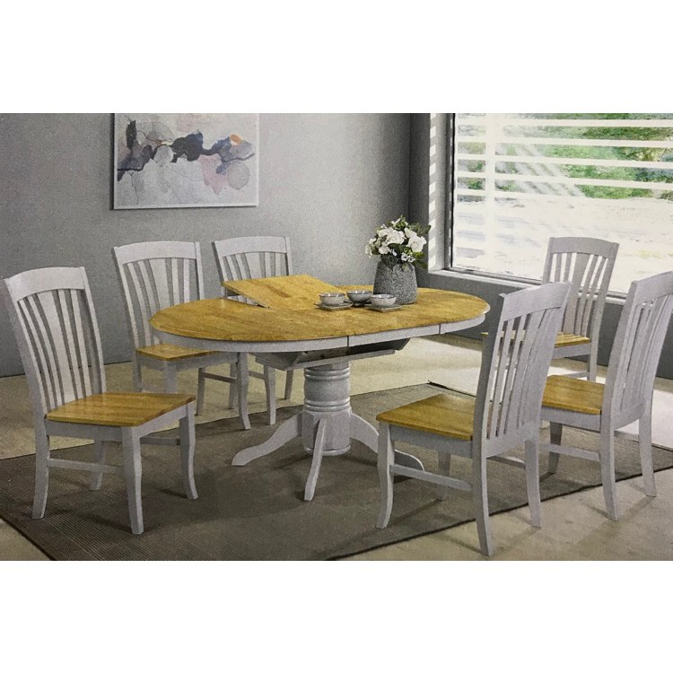 Normandy Dining Set Grey (View 15 of 30)