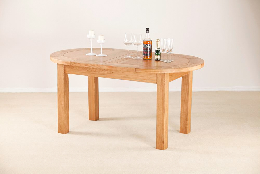 Nottingham Rustic 5 Ft Oak Oval Extending Dining Table With Favorite Rustic Mahogany Extending Dining Tables (View 16 of 30)