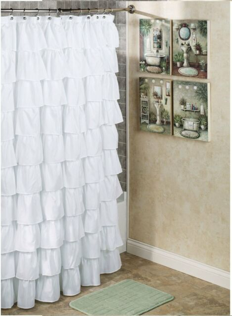 One Pieces Crushed Voile Sheer Gypsy Ruffle Window Curtains/panels Rod  Pocket For Sale Online Regarding Elegant Crushed Voile Ruffle Window Curtain Pieces (View 34 of 45)