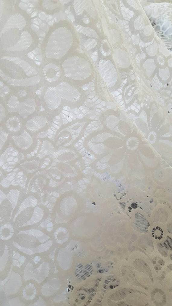 One White Floral Lace Valance – Daisy Curtains – Flower Curtain – Custom  Drapery Valances – Elegant Laces – Sheer Panel Semi Sheers Ivy Intended For Floral Watercolor Semi Sheer Rod Pocket Kitchen Curtain Valance And Tiers Sets (View 34 of 50)