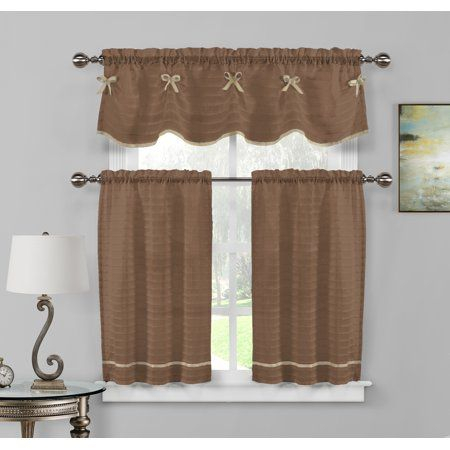 Overstock: Online Shopping – Bedding, Furniture For Bermuda Ruffle Kitchen Curtain Tier Sets (View 32 of 50)