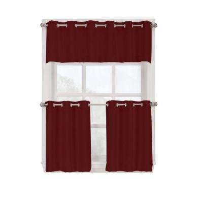 Paprika – Light Filtering Curtains – Curtains & Drapes – The Regarding Light Filtering Kitchen Tiers (#28 of 50)
