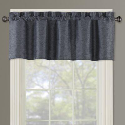Paradise Window Valance In Indigo | Products | Valance, Bed Regarding Hudson Pintuck Window Curtain Valances (View 22 of 30)