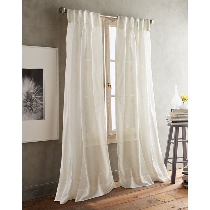 Paradox Inverted Pleat Solid Sheer Curtain Panels In Pleated Curtain Tiers (View 21 of 50)