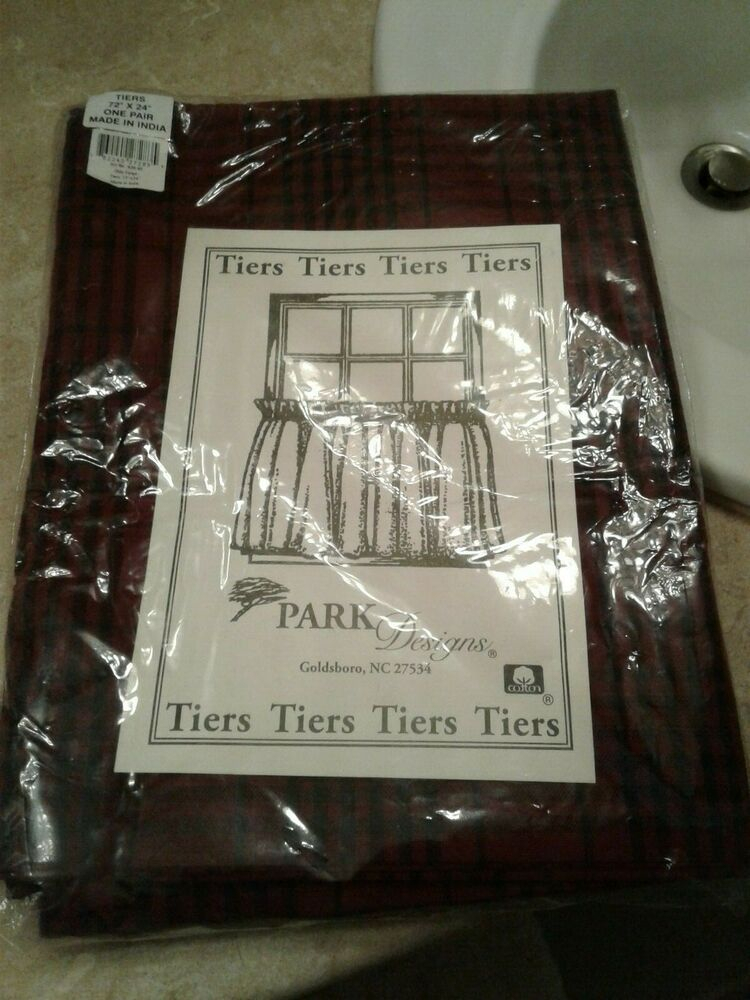 Park Designs Tiers Olde Forge 72 X 24 New | Ebay In Dexter 24 Inch Tier Pairs In Green (View 4 of 30)