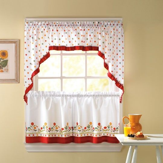 Pin On Looking For These With Fluttering Butterfly White Embroidered Tier, Swag, Or Valance Kitchen Curtains (View 30 of 50)