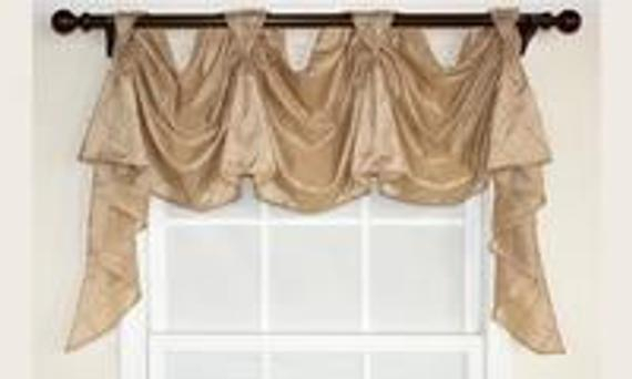 Pin Tuck Bisque Victory Swag 3 Scoop For Hudson Pintuck Window Curtain Valances (View 24 of 30)