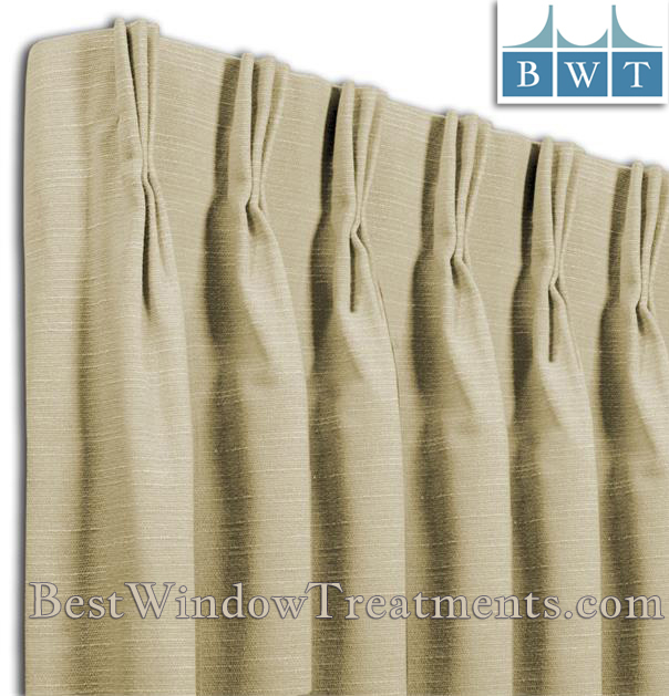 Pinch Pleat Custom Drapery Panel Single Width (Com) | Bestwindowtreatments In Pleated Curtain Tiers (View 10 of 50)