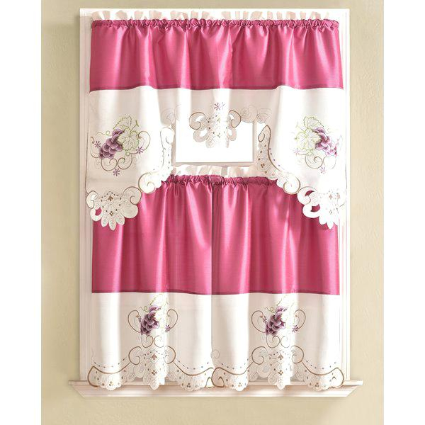 Pink Kitchen Curtain – Langau (View 15 of 42)