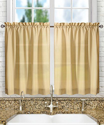 Pinmadeline Knoebel On Kitchen Curtain | Tier Curtains Intended For Oakwood Linen Style Decorative Window Curtain Tier Sets (#24 of 30)