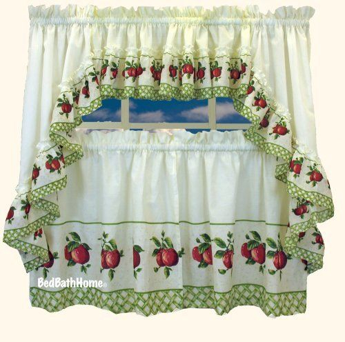 Pinmaria Camerano On Kitchen Ideas In 2019 | Curtain Intended For Red Delicious Apple 3 Piece Curtain Tiers (View 42 of 50)