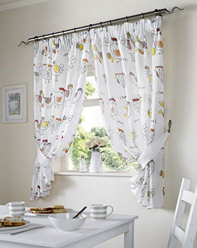 Pinorrsome On Kitchen   Dining Room Curtains, Country Intended For Embroidered Floral 5 Piece Kitchen Curtain Sets (View 20 of 30)
