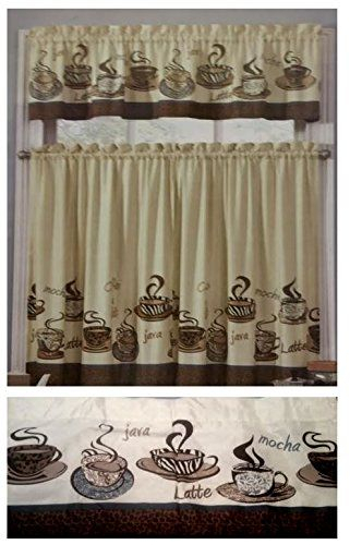 Pinsandy Brown On Sb 63 In 2019 | Coffee Theme Kitchen Inside Coffee Drinks Embroidered Window Valances And Tiers (View 32 of 45)