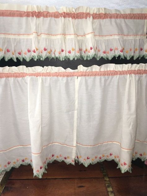 Pinterest – Пинтерест Throughout Embroidered Floral 5 Piece Kitchen Curtain Sets (View 21 of 30)