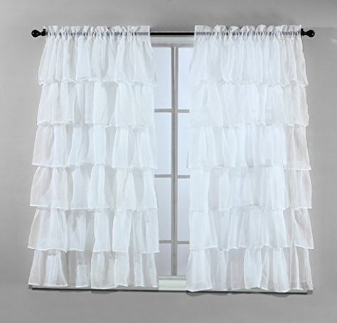 Pinterest – España Regarding Elegant Crushed Voile Ruffle Window Curtain Pieces (View 36 of 45)