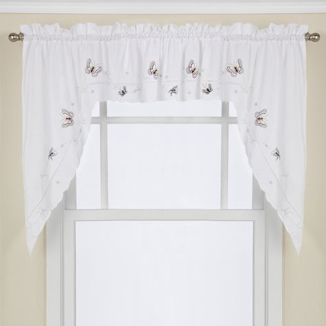 Pinterest Inside Modern Subtle Texture Solid White Kitchen Curtain Parts With Grommets Tier And Valance Options (View 32 of 50)