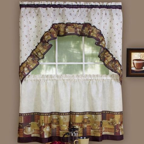 Pinterest Pertaining To Chardonnay Tier And Swag Kitchen Curtain Sets (View 13 of 50)