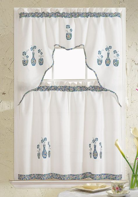 Pinterest Throughout Abby Embroidered 5 Piece Curtain Tier And Swag Sets (View 25 of 30)