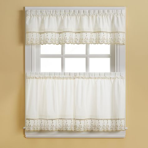 Pinterest With French Vanilla Country Style Curtain Parts With White Daisy Lace Accent (View 30 of 50)