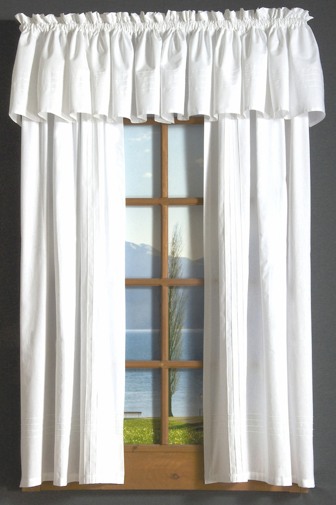 Pintuck Rod Pocket Curtains Within Pintuck Kitchen Window Tiers (#30 of 43)