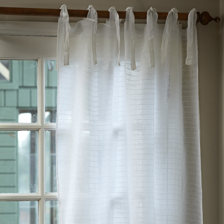 Pintuck White Curtain Panel Intended For Pintuck Kitchen Window Tiers (#31 of 43)