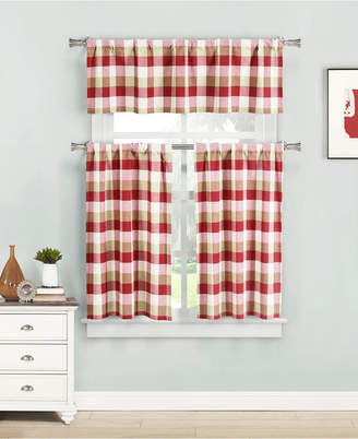 Plaid Lived Curtains – Shopstyle With Twill 3 Piece Kitchen Curtain Tier Sets (View 17 of 42)