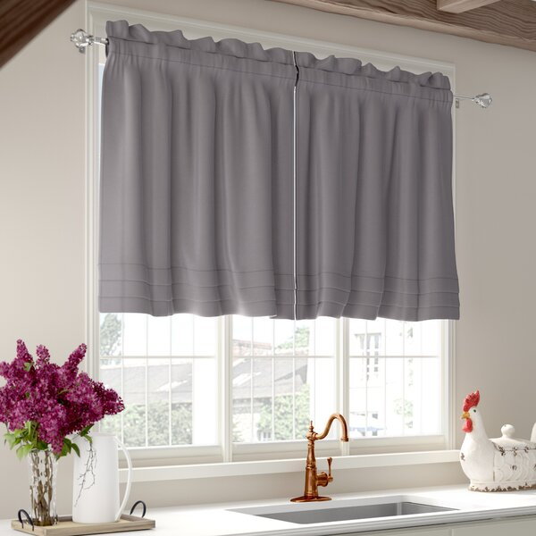 Pleated Cafe Curtains | Wayfair Within Pleated Curtain Tiers (View 34 of 50)