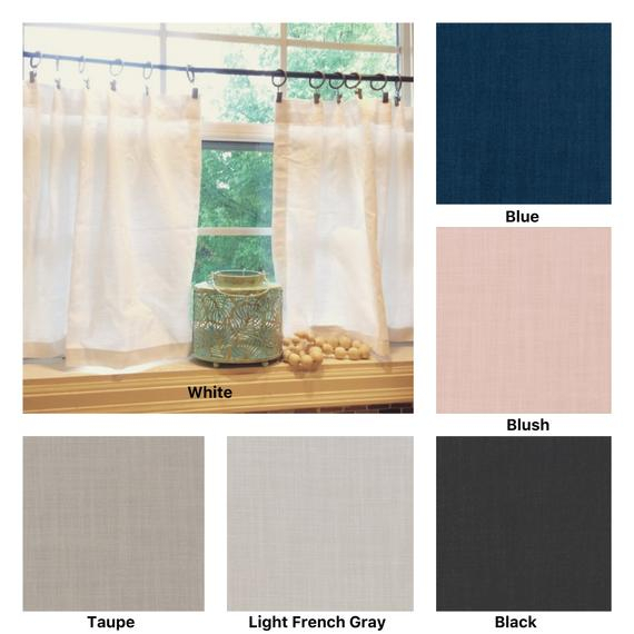 Pleated Solid Cotton Linen (Look) Texture Cafe Curtains , Tier Curtains, Kitchen Curtains, Bathroom Curtains , Window Treatments, Farmhouse Inside Pleated Curtain Tiers (View 9 of 50)