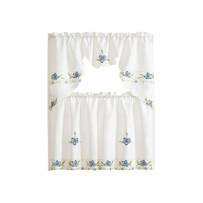 Polsky 3 Piece Kitchen Curtain Set Inside Scroll Leaf 3 Piece Curtain Tier And Valance Sets (View 48 of 50)