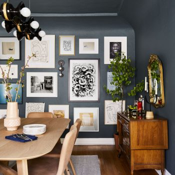 Popular A Dark, Moody & Oh So Glam Rental Dining Room Reveal Within Shaw Dining Tables, Blonde Oak (View 19 of 20)