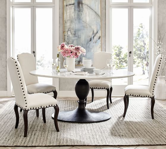 Popular Chapman Marble Oval Dining Table In  (#18 of 30)