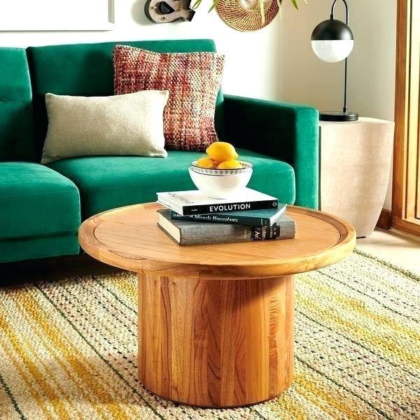 Popular Dawson Round Pedestal Coffee Table – Zoeydecor (#15 of 20)