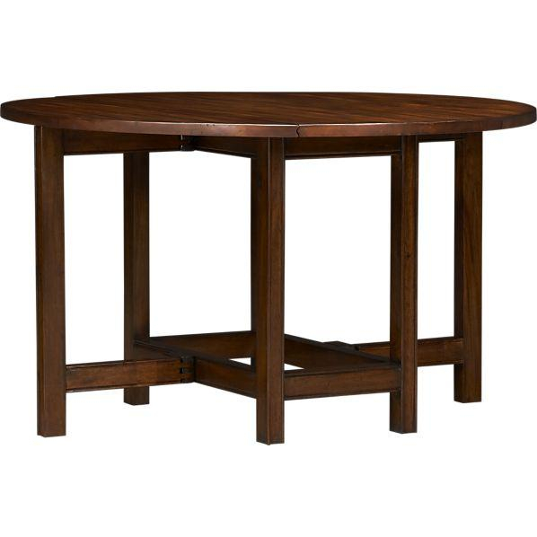 Popular Mahogany Shayne Drop Leaf Kitchen Tables Within Arlington Drop Leaf Dining Table – Crate And Barrel (View 15 of 20)