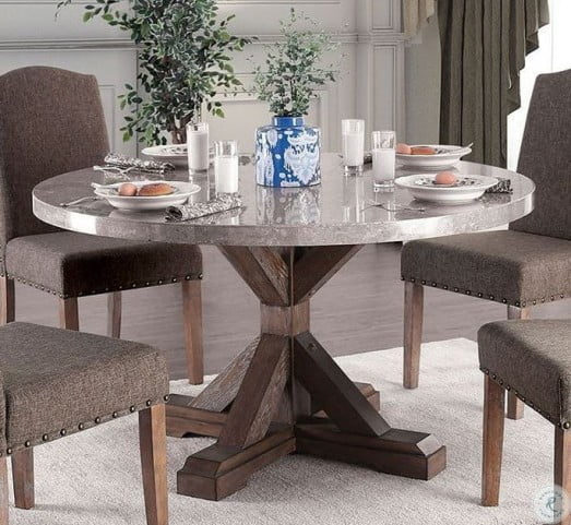Popular Rae Round Pedestal Dining Tables Pertaining To Bridgen Natural Round Dining Table (#15 of 30)
