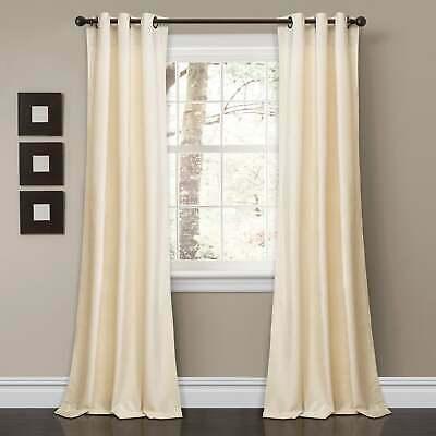 Porch & Den Lapeyrous Velvet Solid Room Darkening Window | Ebay In Porch & Den Park Point Blush 24 Inch Tier Pairs (#16 of 30)