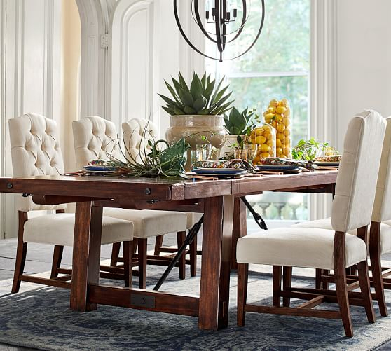 [%pottery Barn Dining Event: Save 20% On Dining Tables, Chairs Throughout Current Rustic Mahogany Benchwright Dining Tables|rustic Mahogany Benchwright Dining Tables In Current Pottery Barn Dining Event: Save 20% On Dining Tables, Chairs|2020 Rustic Mahogany Benchwright Dining Tables In Pottery Barn Dining Event: Save 20% On Dining Tables, Chairs|popular Pottery Barn Dining Event: Save 20% On Dining Tables, Chairs Intended For Rustic Mahogany Benchwright Dining Tables%] (View 15 of 20)