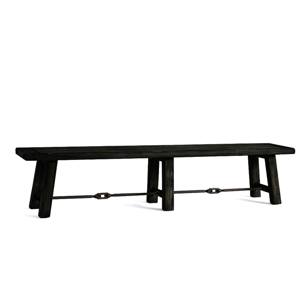 Pottery Barn – Pottery Barn Benchwright Bench Large Throughout Well Liked Blackened Oak Benchwright Extending Dining Tables (View 16 of 20)