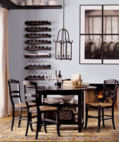 Pottery Barn Shayne Drop Leaf Kitchen Table – Black Look 4 Less Within Well Liked Black Shayne Drop Leaf Kitchen Tables (View 2 of 20)