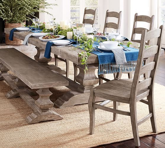Popular Photo of Gray Wash Toscana Extending Dining Tables