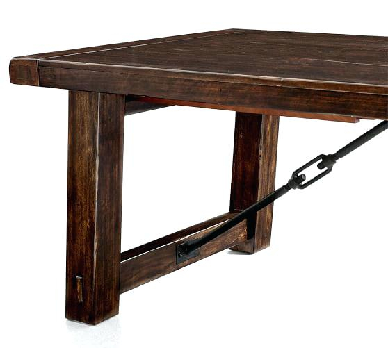 Preferred Rustic Mahogany Benchwright Dining Tables Regarding Benchwright Extending Dining Table – Stiickman (View 13 of 20)