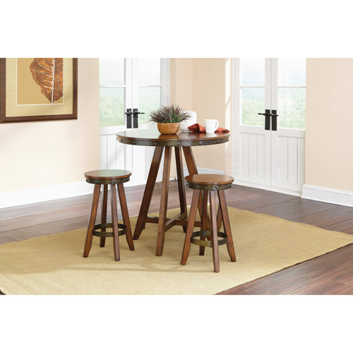 Preferred Sauder Carson Forge Counter Height Table + 2 Stools (415089 515) Pertaining To Carson Counter Height Tables (View 9 of 20)